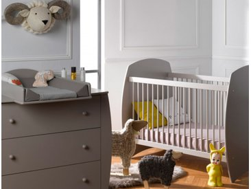 Petite chambre bébé Médéa Sable & Lin 70x140 - chambrekids.com