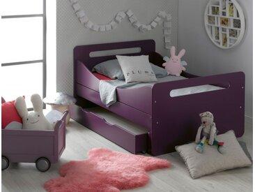 Lit enfant évolutif Violet Féroé avec tiroir et matelas - chambrekids.com