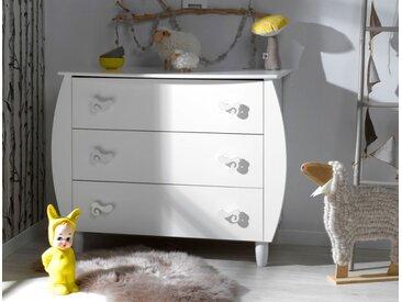 Commode bébé Lutin blanc - chambrekids.com