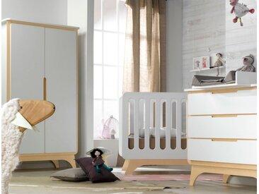 Chambre bébé Bonheur Blanc & Bouleau - chambrekids.com