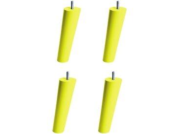 MERINOS - Jeu de pieds de lit JK087950 fuseau vert anis