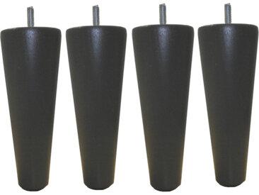 MRG - Jeu de pieds Cylindre Cone H17cm D7.5cm gris anthracite filetage 8mm