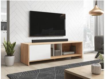 Meuble TV SUE VIVALDI chêne wotan / blanc mat