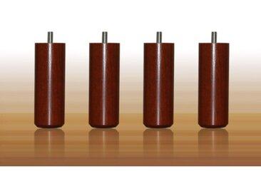 MRG - Jeu de pieds Cylindre Cylindre 20 cm teinte merisier