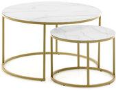 LF - Tables gigognes Gigogne Leonor diamètre 80 et 50 cm