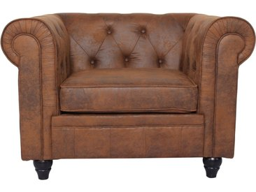 Grand fauteuil Chesterfield Vintage