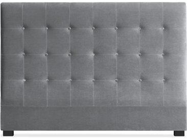 Tête de lit Luxor 160cm Velours Argent