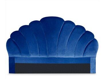 Tête de lit Mermaid 180 cm Velours Bleu