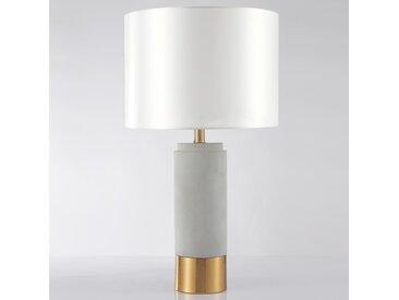 Lampe de table Zippy Béton Gris et Métal Or
