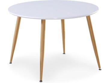 Table scandinave Nina Bois laqué Blanc