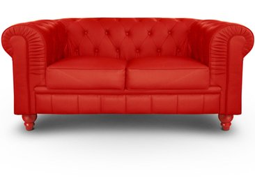 Grand canapé 2 places Chesterfield Rouge