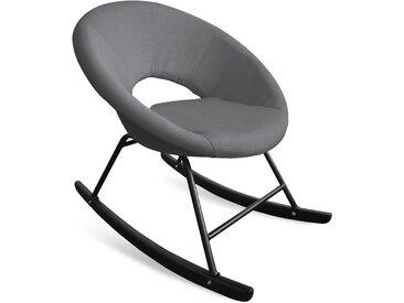 Fauteuil à bascule type rocking chair Berso Tissu Gris