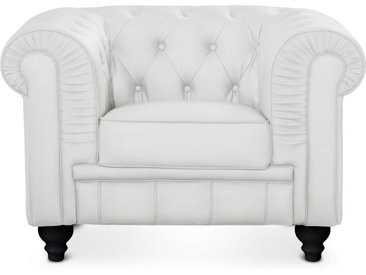 Grand fauteuil Chesterfield Blanc