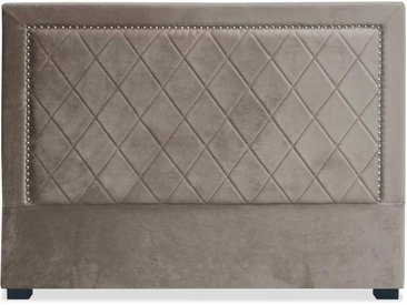 Tête de lit Meghan 160cm Velours Taupe