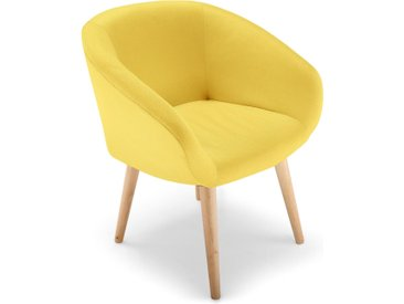 Chaise / Fauteuil style scandinave Frost Jaune