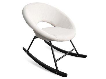 Fauteuil à bascule type rocking chair Berso Tissu Beige