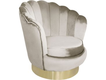 Fauteuil tournant pivotant Shelty Taupe