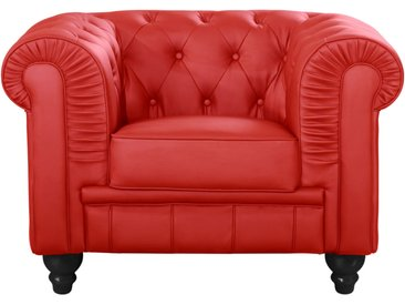 Grand fauteuil Chesterfield Rouge