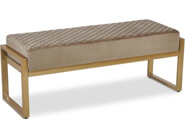 Banquette Madison Velours Taupe Pieds Or