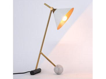 Lampe de table Ecco Blanc et Laiton