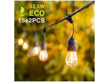 GREADEN GUIRLANDE LUMINEUSE BLANC CHAUD 15 LAMPES