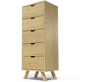 Chiffonnier 5 tiroirs Viking Scandinave bois  Miel