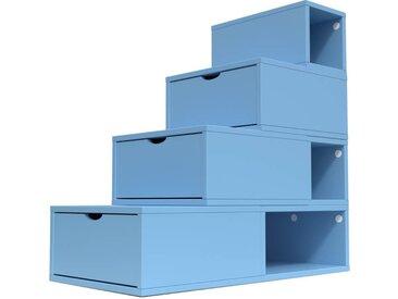 Escalier Cube de rangement hauteur 100 cm  Bleu Pastel