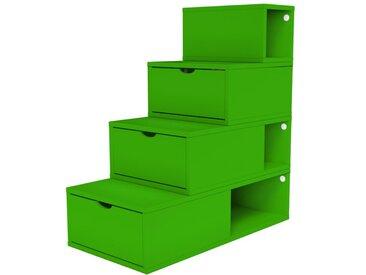 Escalier Cube de rangement hauteur 100 cm  Vert