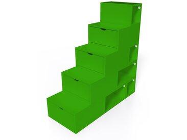 Escalier Cube de rangement hauteur 125 cm  Vert