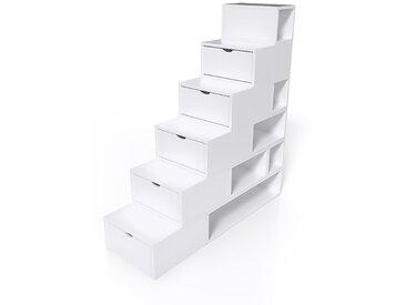 Escalier Cube de rangement hauteur 150cm  Blanc