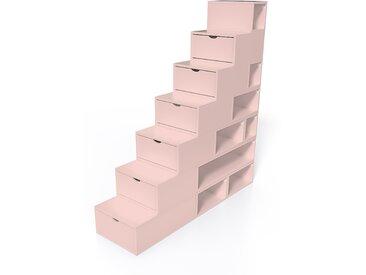 Escalier Cube de rangement hauteur 175 cm  Rose Pastel