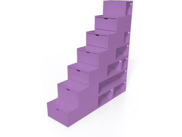 Escalier Cube de rangement hauteur 175 cm  Lilas