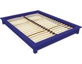 Lit futon 2 places bois massif Solido 160x200cm Bleu foncé