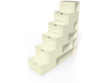 Escalier Cube de rangement hauteur 150cm  Ivoire