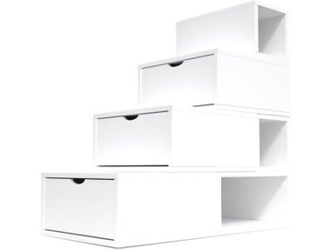 Escalier Cube de rangement hauteur 100 cm  Blanc