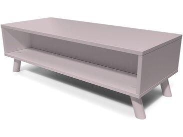 Table Basse Scandinave rectangulaire Viking bois  Violet Pastel
