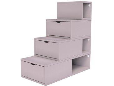 Escalier Cube de rangement hauteur 100 cm  Violet Pastel