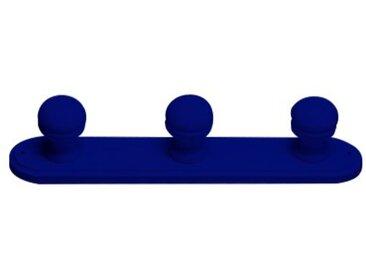 Porte manteaux bois 3 patères  Bleu foncé