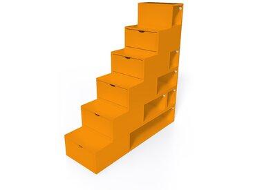 Escalier Cube de rangement hauteur 150cm  Orange