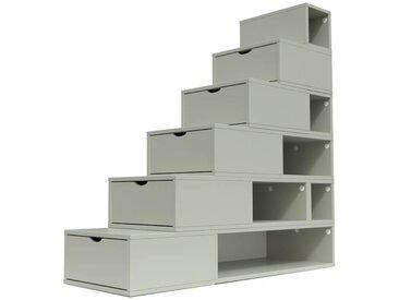 Escalier Cube de rangement hauteur 150cm  Moka