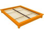 Lit futon 2 places bois massif Solido 160x200cm Orange