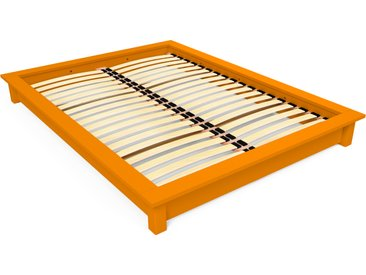 Lit futon Solido bois Massif - 2 places 160x200cm Orange