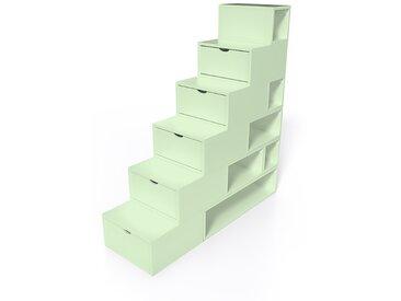 Escalier Cube de rangement hauteur 150cm  Vert Pastel