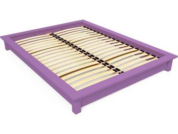 Lit futon Solido bois Massif - 2 places 160x200cm Lilas