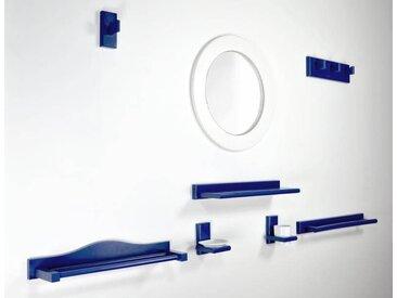 Kit salle de bain et WC bois bleu  Bleu foncé