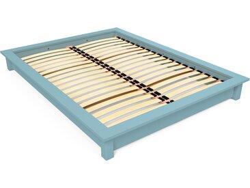 Lit futon Solido bois Massif - 2 places 160x200cm Bleu Pastel
