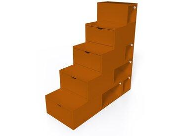 Escalier Cube de rangement hauteur 125 cm  Chocolat