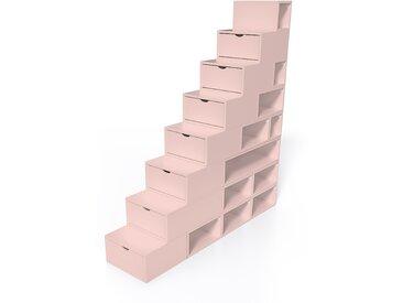 Escalier Cube de rangement hauteur 200 cm  Rose Pastel