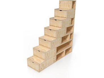 Escalier Cube de rangement hauteur 175 cm  Vernis Naturel