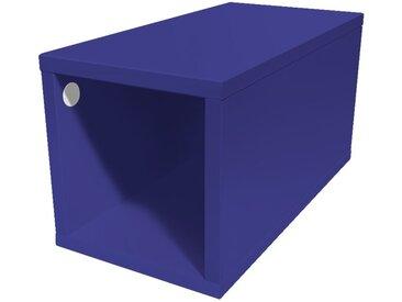 Cube de rangement 25x50 cm bois 25x50cm Bleu foncé